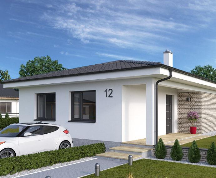 Проект одноэтажного дома с террасой P116 - фото №1