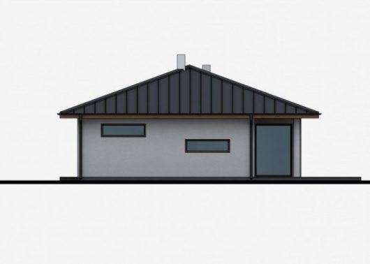 Фасад одноэтажного дома с террасой P31 - вид слева