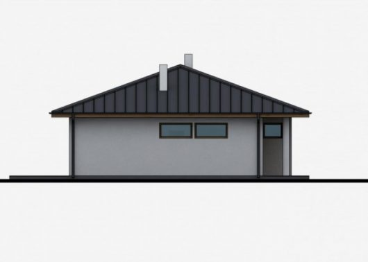Фасад одноэтажного дома с террасой P31 - вид справа