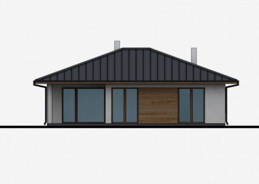 Фасад одноэтажного дома с террасой P31 - вид сзади