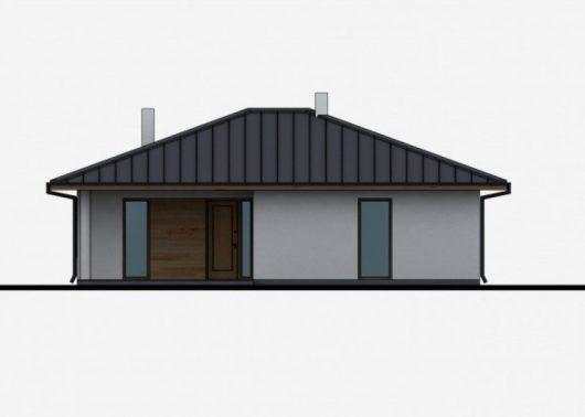Фасад одноэтажного дома с террасой P31 - вид спереди