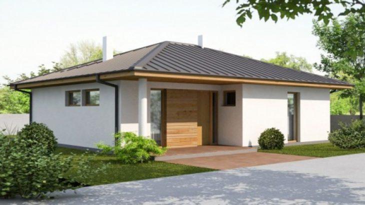 Проект одноэтажного дома с террасой P31 - фото №1
