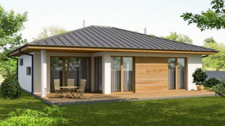 Проект одноэтажного дома с террасой P31 - фото №2