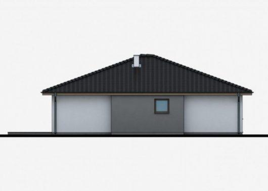 Фасад одноэтажного дома P39 - вид справа