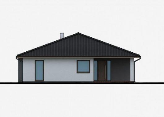 Фасад одноэтажного дома P39 - вид спереди