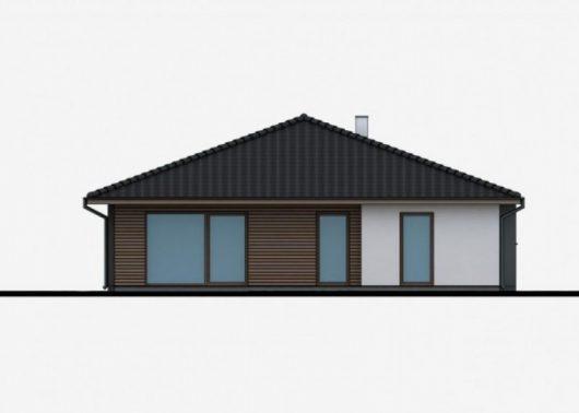 Фасад одноэтажного дома P39 - вид сзади