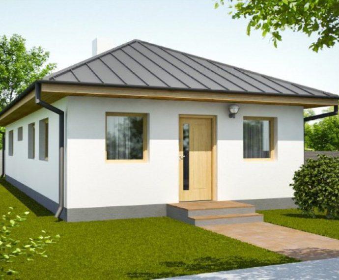 Проект одноэтажного дома с террасой P41 - фото №1