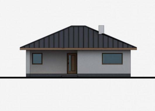 Фасад одноэтажного дома с террасой P42 - вид спереди
