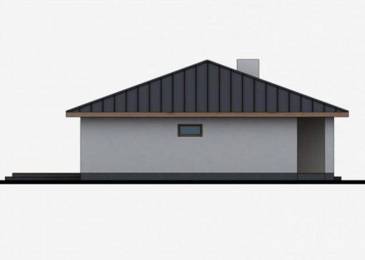 Фасад одноэтажного дома с террасой P42 - вид слева