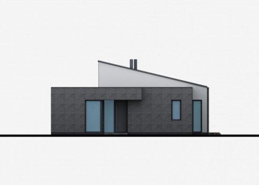 Фасад одноэтажного дома с террасой P43 - вид спереди