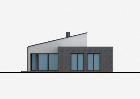 Фасад одноэтажного дома с террасой P43 - вид сзади