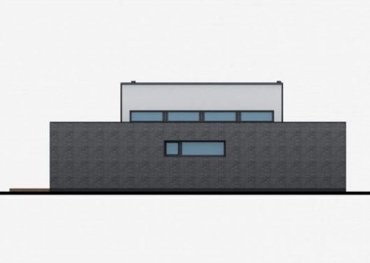 Фасад одноэтажного дома с террасой P43 - вид слева