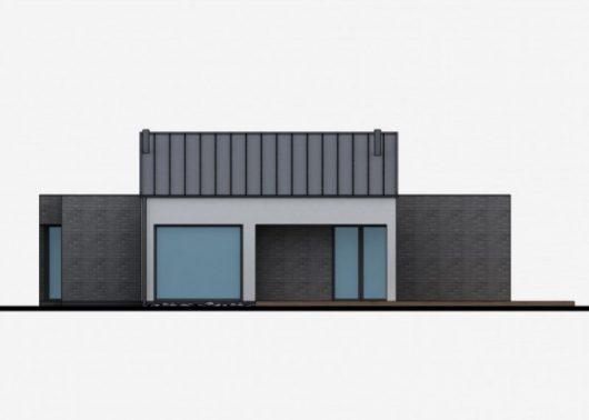 Фасад одноэтажного дома с террасой P43 - вид справа