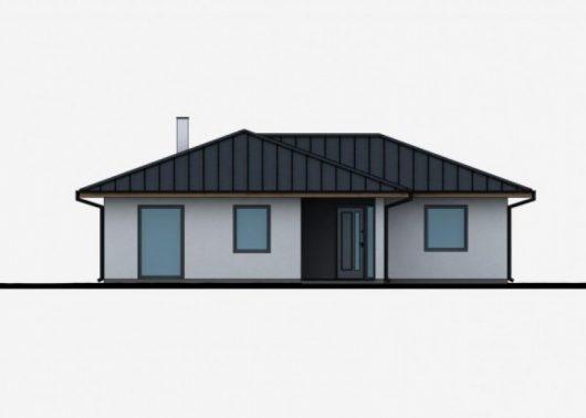 Фасад одноэтажного дома с террасой P49 - вид спереди