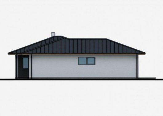Фасад одноэтажного дома с террасой P49 - вид слева
