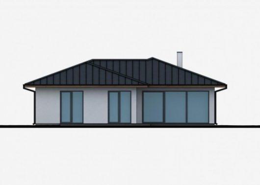 Фасад одноэтажного дома с террасой P49 - вид сзади