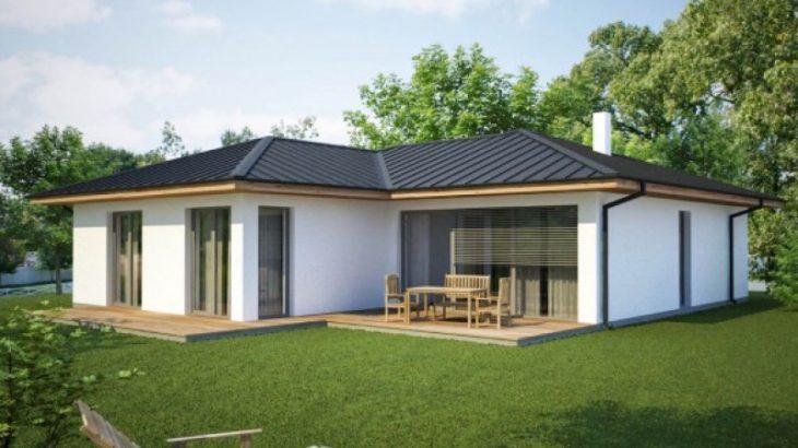 Проект одноэтажного дома с террасой P49 - фото №2
