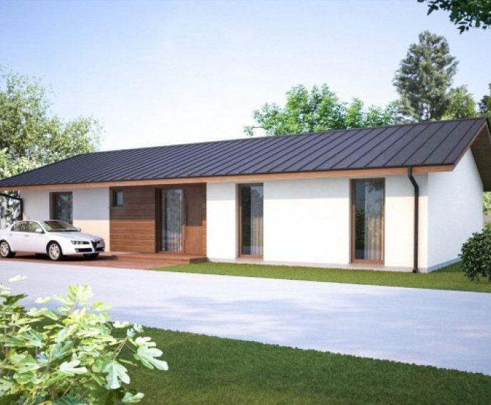 Проект одноэтажного дома P53 - фото №1
