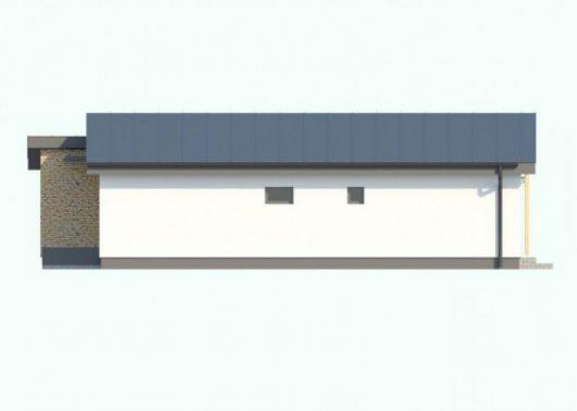 Фасад одноэтажного дома с террасой P58 - вид слева