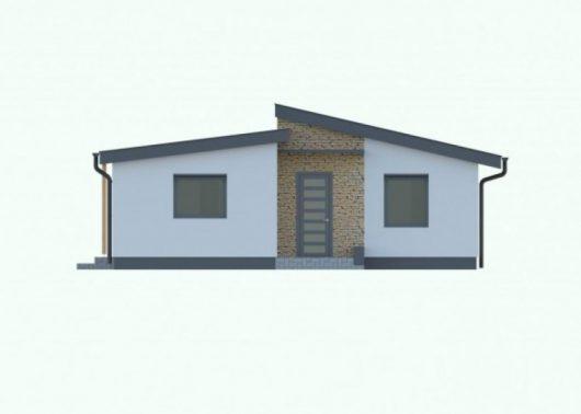 Фасад одноэтажного дома с террасой P58 - вид спереди