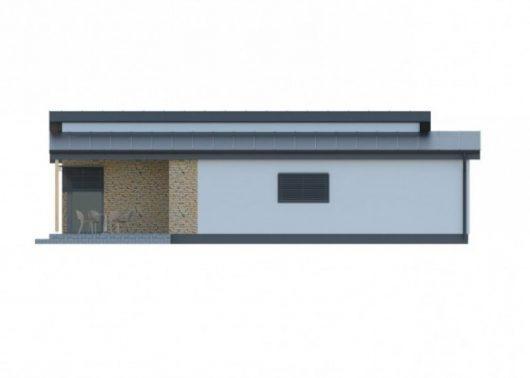 Фасад одноэтажного дома с террасой P58 - вид справа