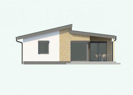 Фасад одноэтажного дома с террасой P58 - вид сзади