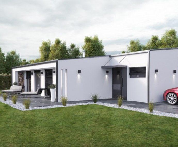 Проект одноэтажного дома P60 - фото №1