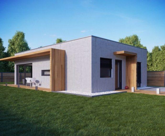Проект одноэтажного дома P63 - фото №1