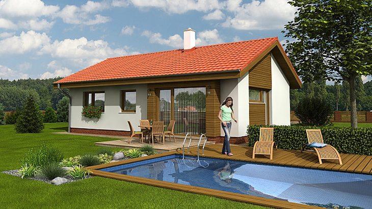 Проект одноэтажного дома с террасой P05 - фото №2