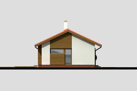 Фасад одноэтажного дома с террасой P05 - вид слева