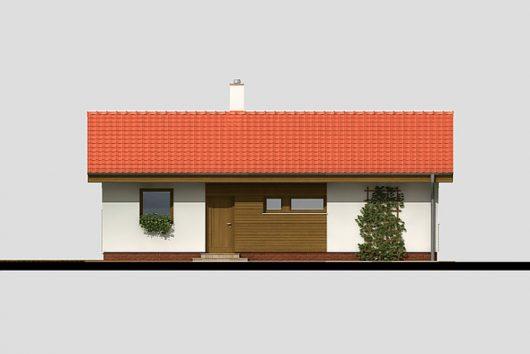 Фасад одноэтажного дома с террасой P05 - вид спереди