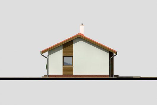 Фасад одноэтажного дома с террасой P05 - вид справа