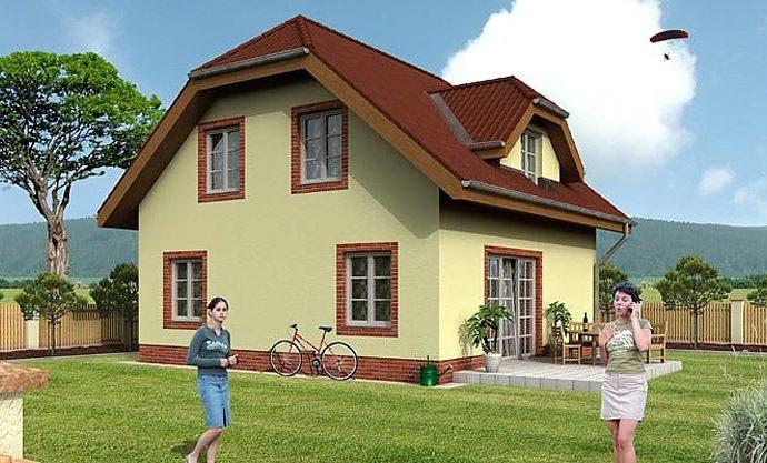 Проект мансардного дома с террасой S01 - фото №1