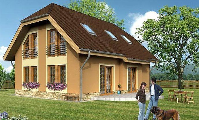 Проект мансардного дома S04 - фото №1