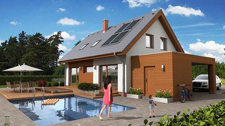 Проект мансардного дома с террасой и гаражом S19 - фото №2
