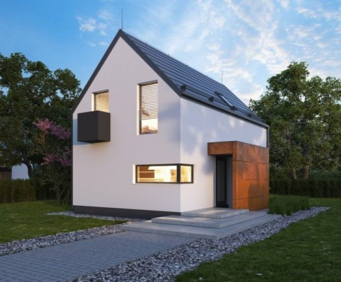 Проект мансардного дома S35 - фото №1