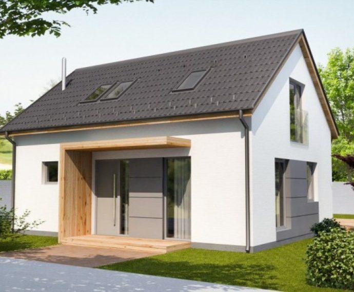 Проект мансардного дома с террасой S45 - фото №1
