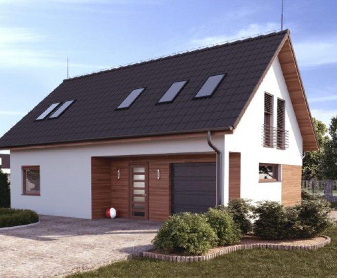 Проект мансардного дома с гаражом S53 - фото №1