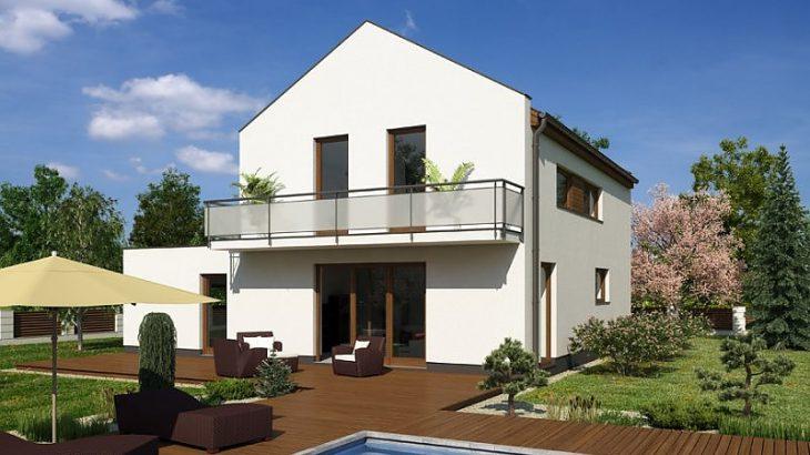 Проект двухэтажного дома с террасой и гаражом V05 - фото №2