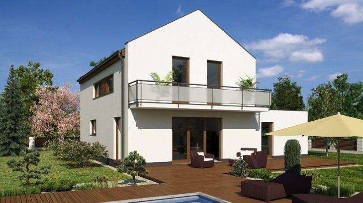 Проект двухэтажного дома с террасой и гаражом V05 - фото №3