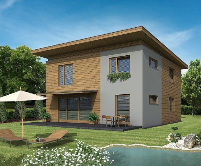Проект двухэтажного дома с террасой V07 - фото №1