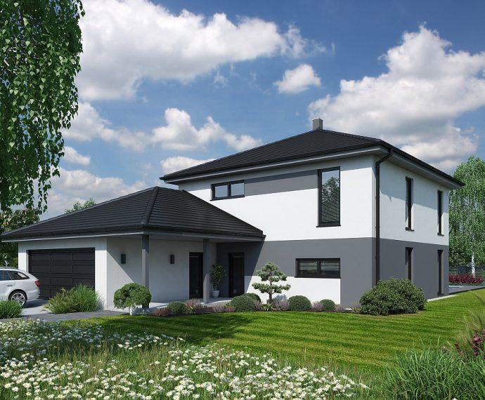 Проект двухэтажного дома с гаражом V09 - фото №1