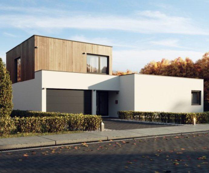 Проект двухэтажного дома с гаражом V10 - фото №1