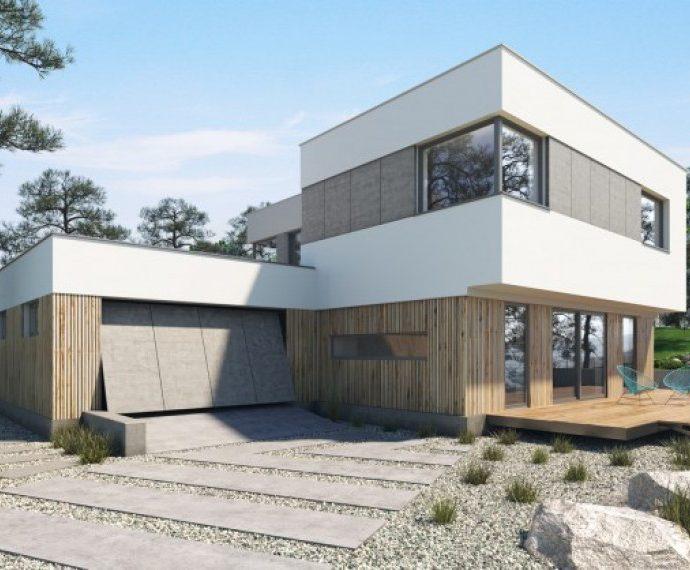 Проект двухэтажного дома с гаражом V11 - фото №1