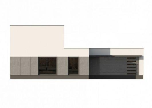 Фасад двухэтажного дома с гаражом V13 - вид спереди