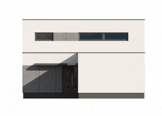 Фасад двухэтажного дома с гаражом V13 - вид слева