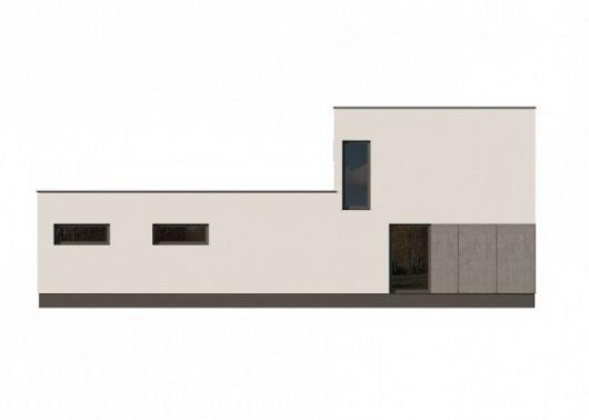 Фасад двухэтажного дома с гаражом V13 - вид сзади