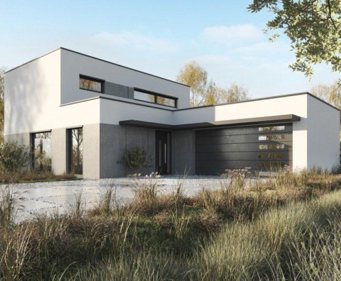 Проект двухэтажного дома с гаражом V13 - фото №1