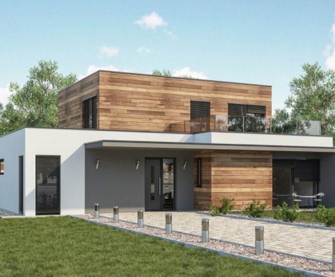 Проект двухэтажного дома V14 - фото №1