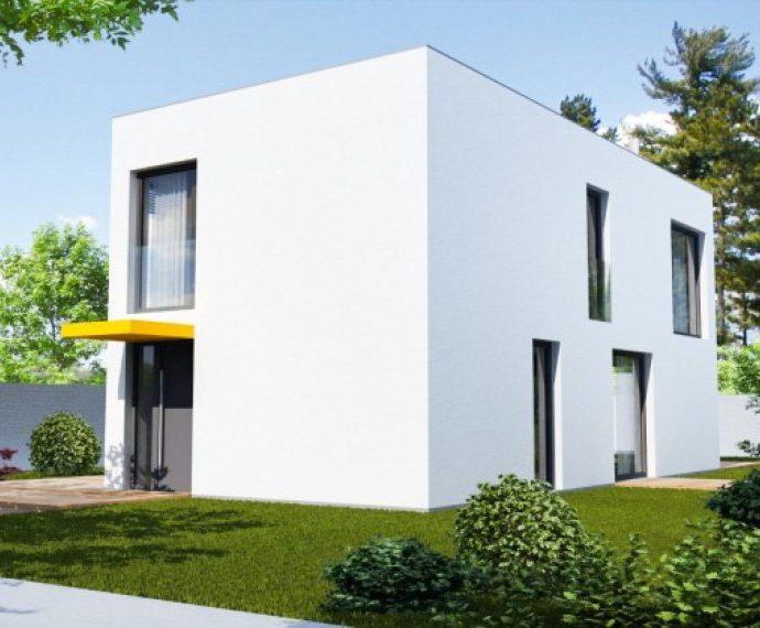 Проект двухэтажного дома с террасой V16 - фото №1